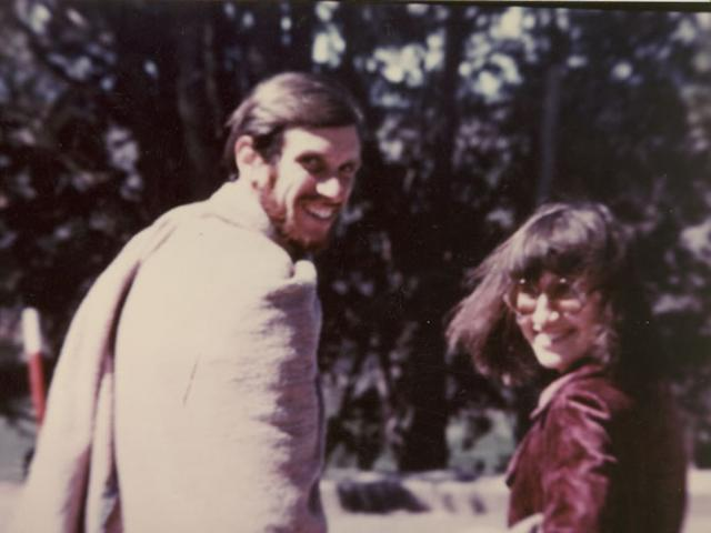 1 05 Joseph Goldstein and Sharon Salzberg in India, 1970s.