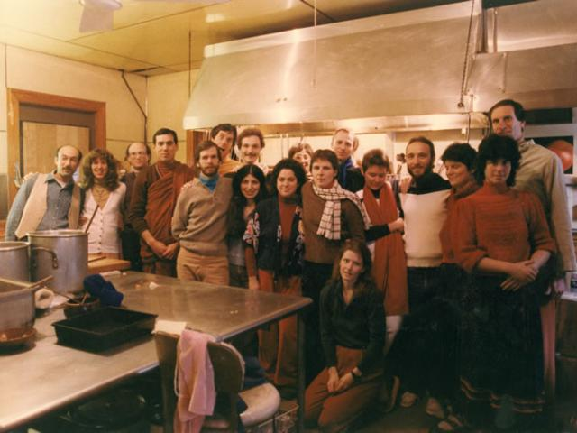 1 33 IMS staff, with Alan Clements in monastic robes, 1983.