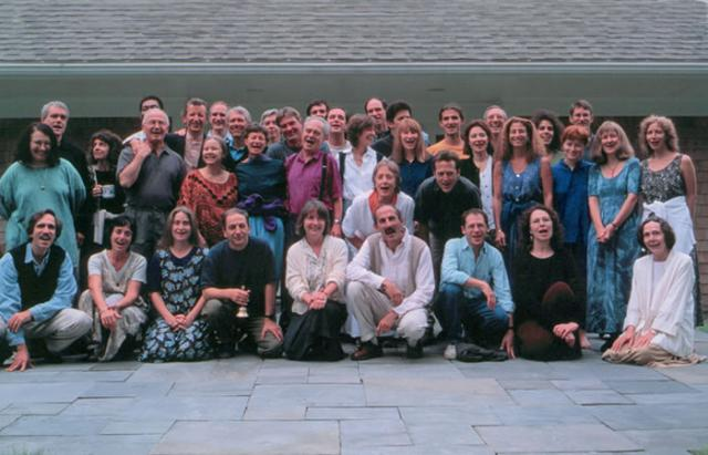2 13 Vipassana teachers in the West gather together at the Barre Center for Buddhist Studies in 1996.