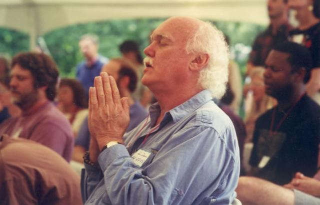 2 14 Ram Dass attends IMS's 20th anniversary celebration, 1996.