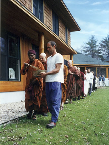 3 07 In April, 2003, Ven. Bhante Gunaratana, blessed the Forest Refuge.
