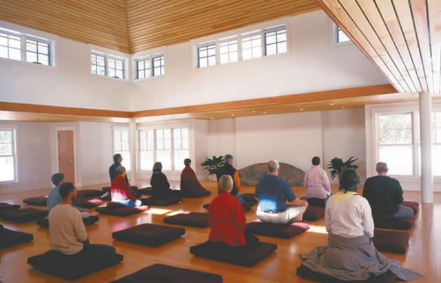 3 11 The Forest Refuge meditation hall - a deeply silent space.