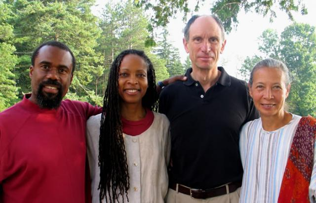 3 17 Teachers of the 2005 People of Color Retreat. (L to R): Russell Brown, Rachel Bagby, Joseph Goldstein and Gina Sharpe.