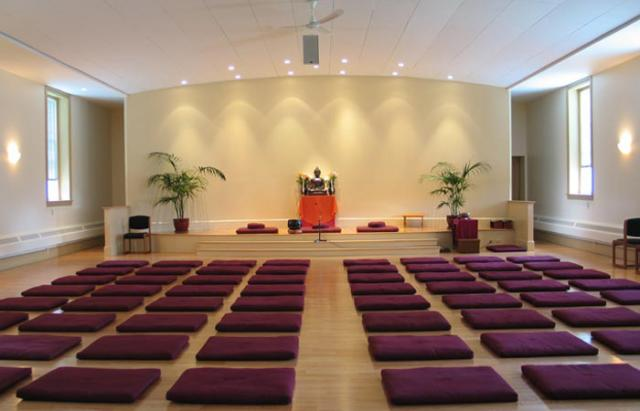3 24 By the middle of 2006, a beautiful new Retreat Center meditation hall was ready to greet incoming retreatants.