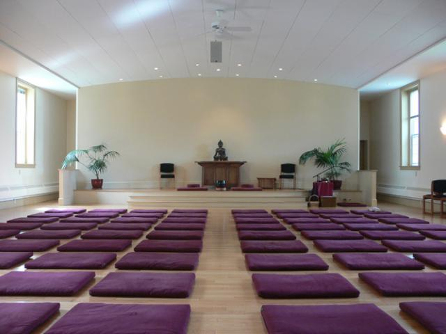 T04 The Retreat Center meditation hall is a light, open space that encourages tranquility and mindfulness.