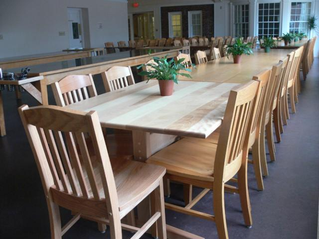 T05 Where you'll eat nourishing vegetarian meals: the Retreat Center dining room.